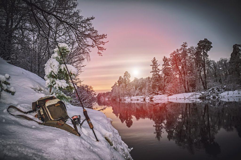 Angeln im Winter