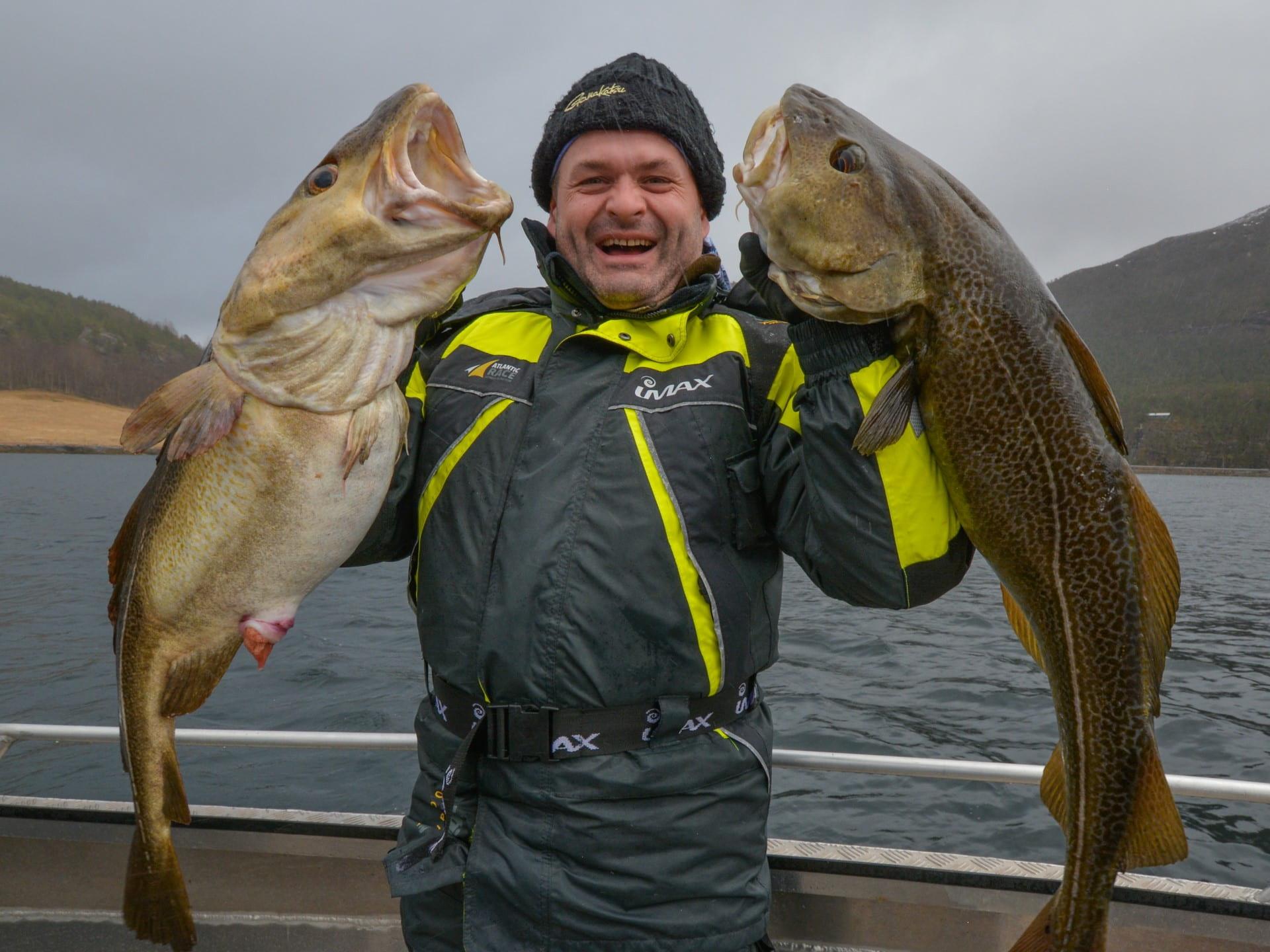 Angeln in Norwegen: großer Fang